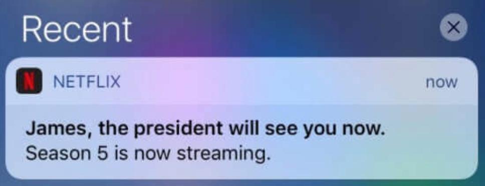 netflix push notification