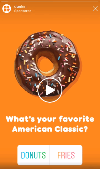 dunkin step up their social media strategy game with interactive poll